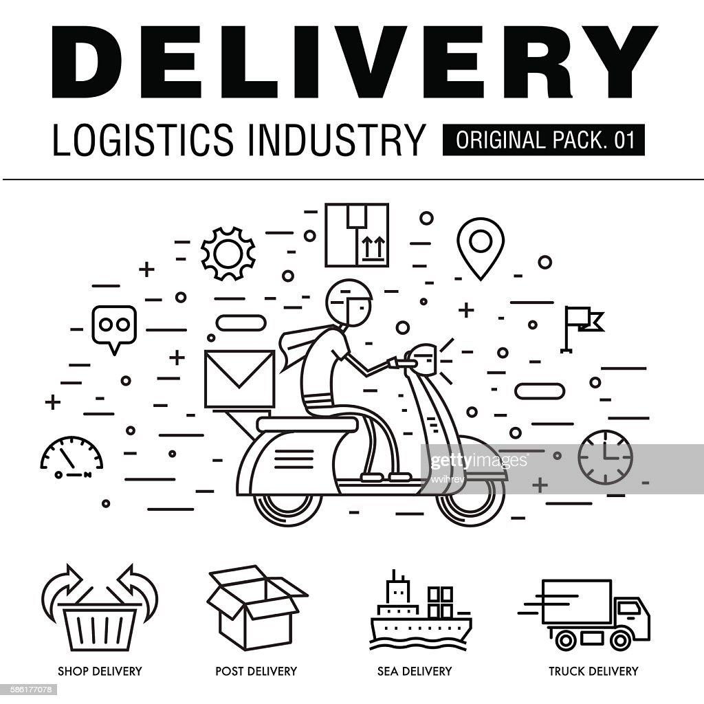 Modern delivery industry pack.