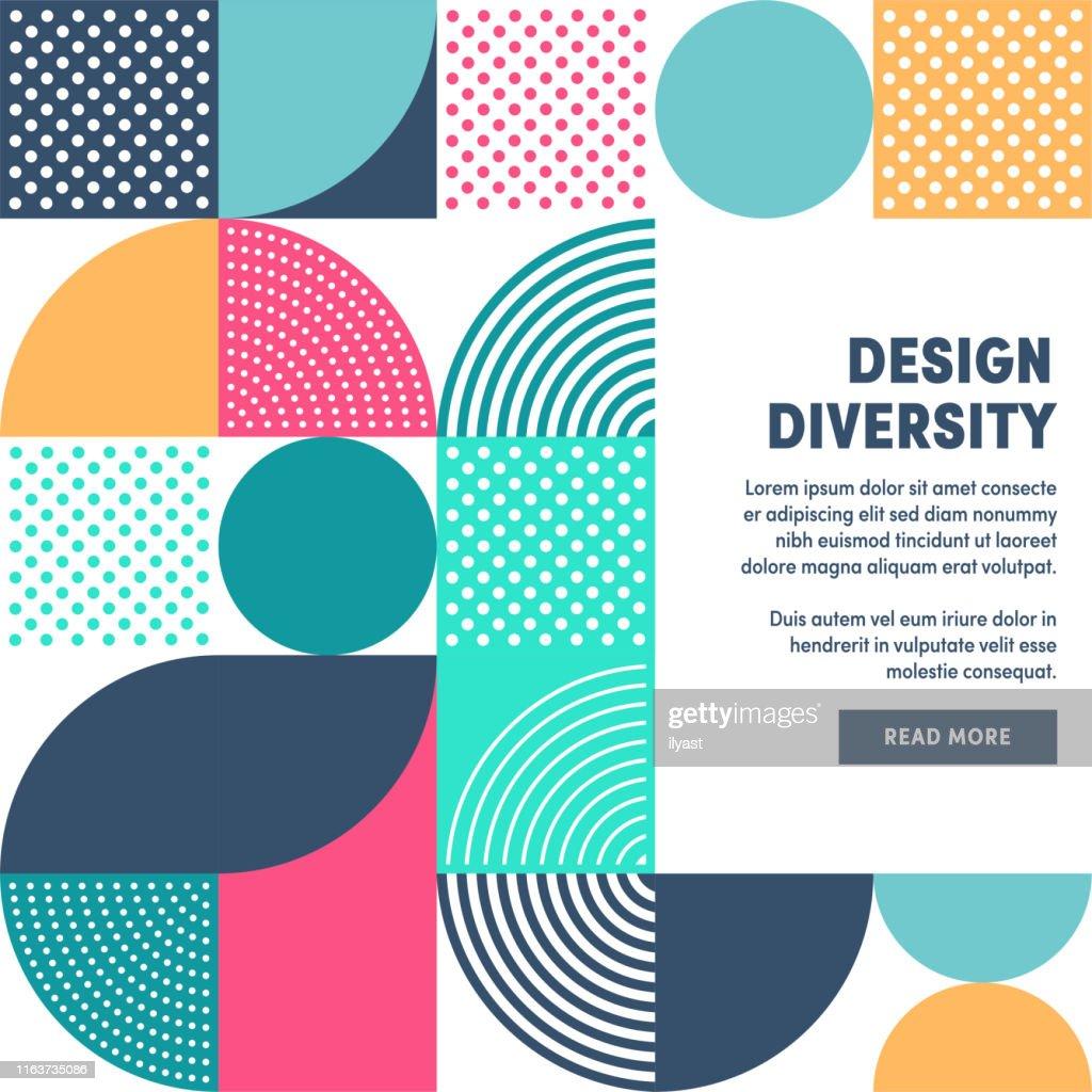 Modern Design Diversity Promo Banner Vector Design : stock illustration