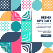 Modern Design Diversity Promo Banner Vector Design