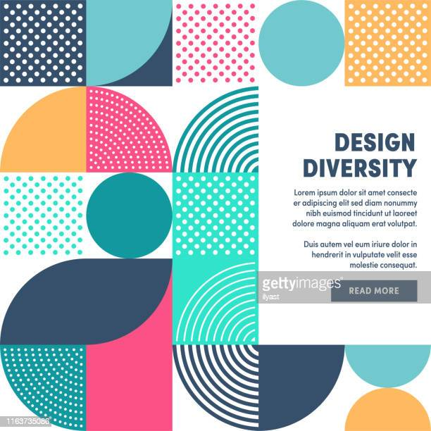 stockillustraties, clipart, cartoons en iconen met modern design diversiteit promo banner vector ontwerp - abstract
