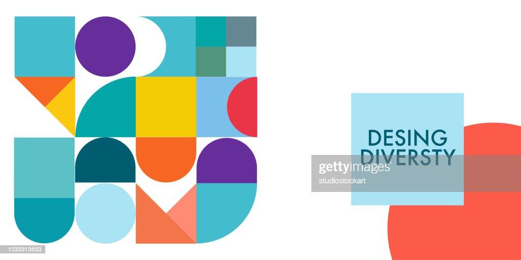 現代デザインダイバーシティプロモバナーベクターデザイン : ストックイラストレーション