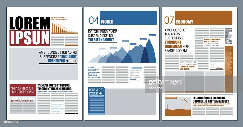 Modern design newspaper