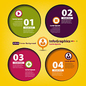 Modern Design template for infographics with four circles