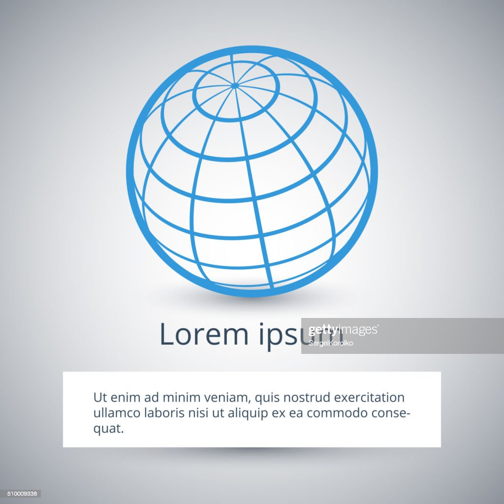 Modern design template of business background with globe