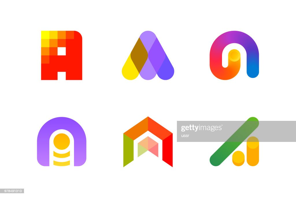 Modern design template or icon of abstract letter A for accounting and auditing industry
