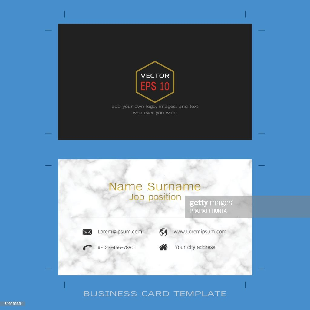 Modles De Disposition Carte Visite Design Moderne Fond Texture Marbre Clipart