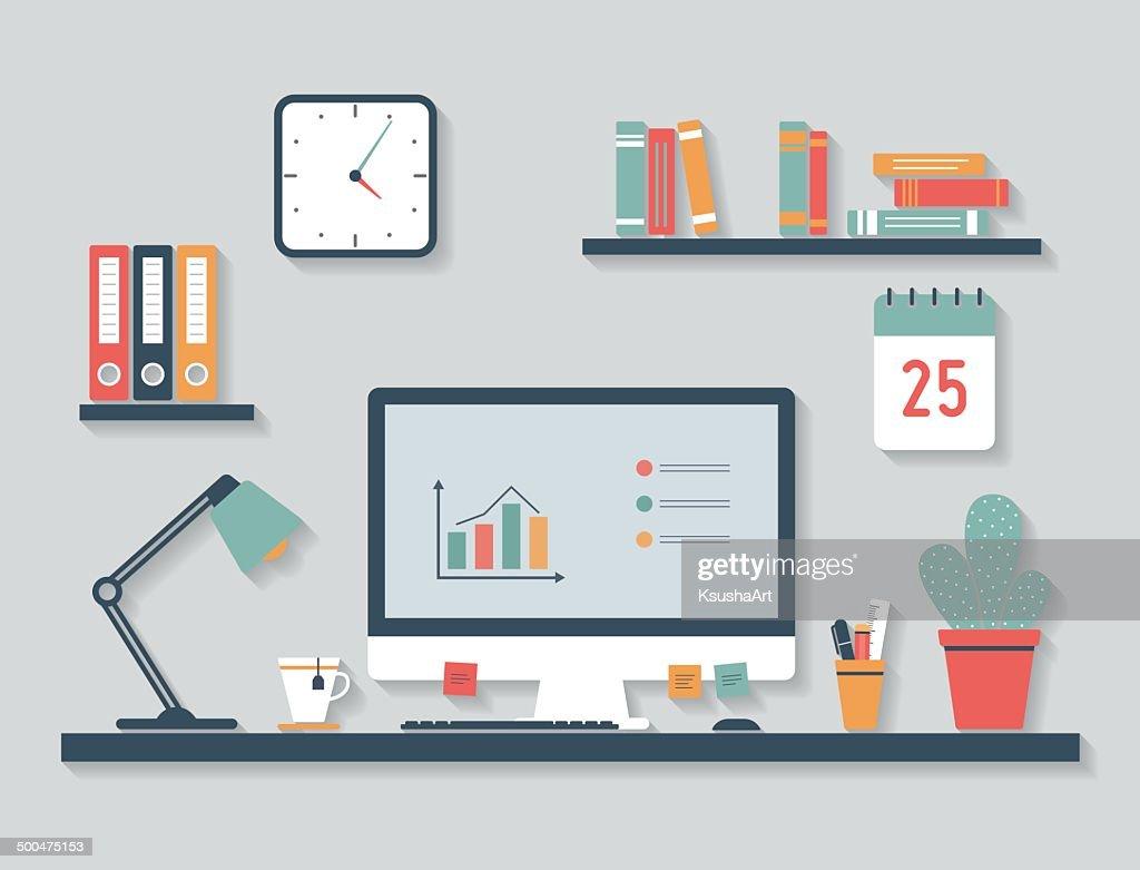 Modern desktop, flat design