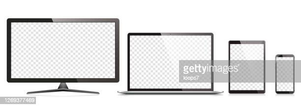 modern devices vector illustration - touchpad stock illustrations