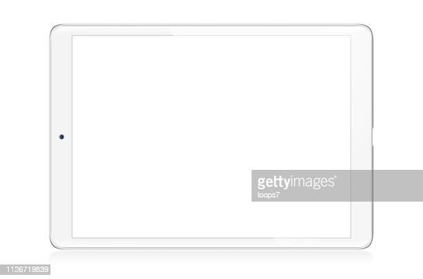 ilustraciones, imágenes clip art, dibujos animados e iconos de stock de ilustración de vector de tableta digital moderno - sistema operativo
