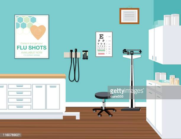 modern doctor's office - doctor's office stock illustrations