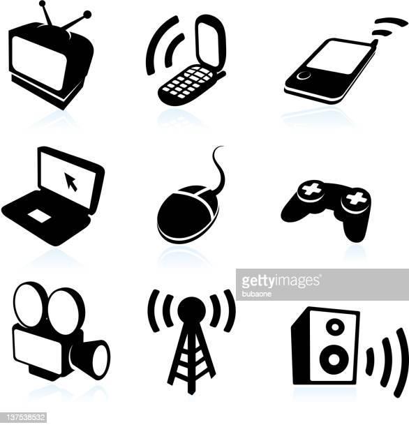 modern electronic devices - joystick stock illustrations, clip art, cartoons, & icons