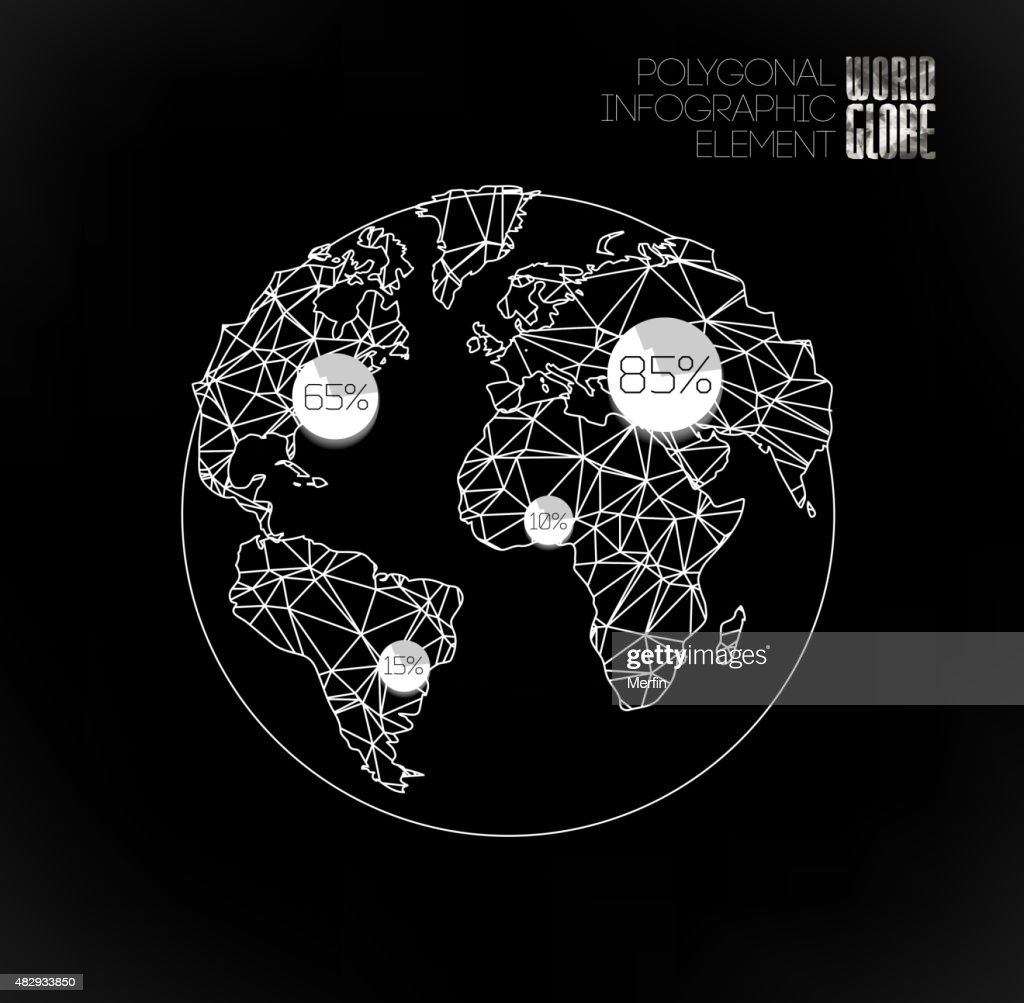 Modern elements of info graphics world map and typography vector art modern elements of info graphics world map and typography vector art gumiabroncs Image collections