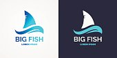 Modern emblem for sea fishing