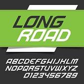 Modern fast alphabet font