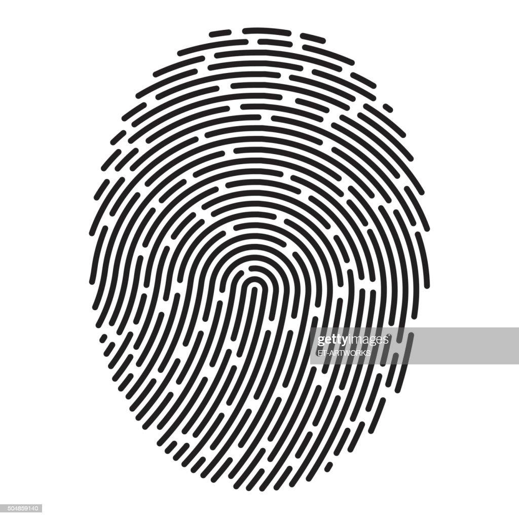 modern fingerprint vector vector art getty images rh gettyimages com fingerprint vector free fingerprint vector art