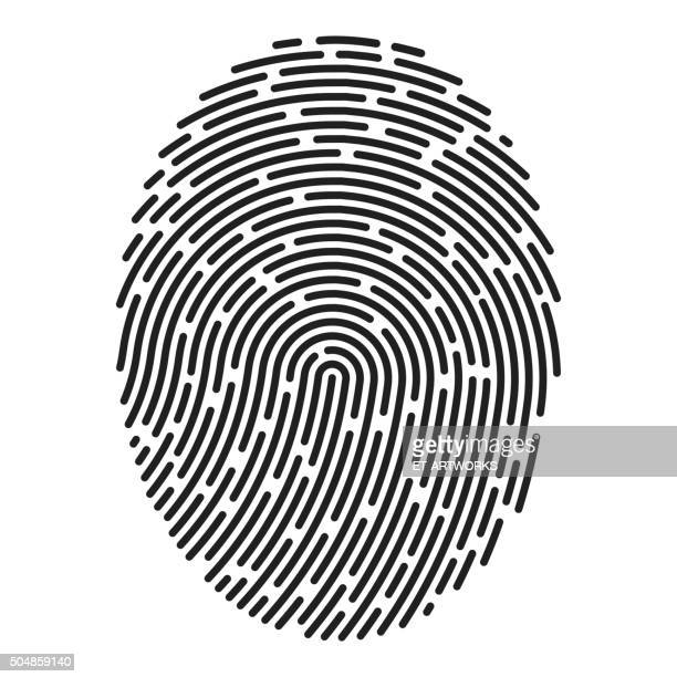 modern fingerprint. vector - printout stock illustrations