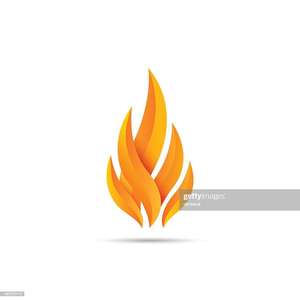 Modern fire icon