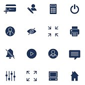 Modern flat icons vector collection. Interface elements, business and office items. Isolated on white background