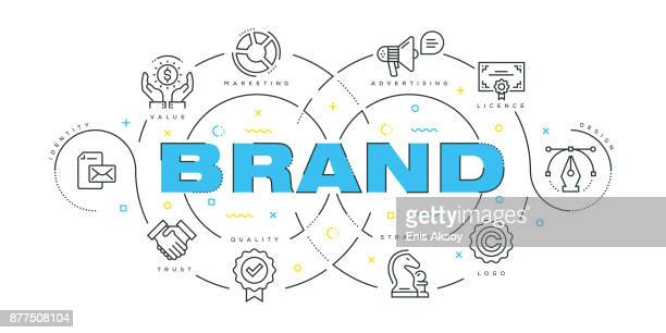 Modern Flat Line Design Concept of Brand