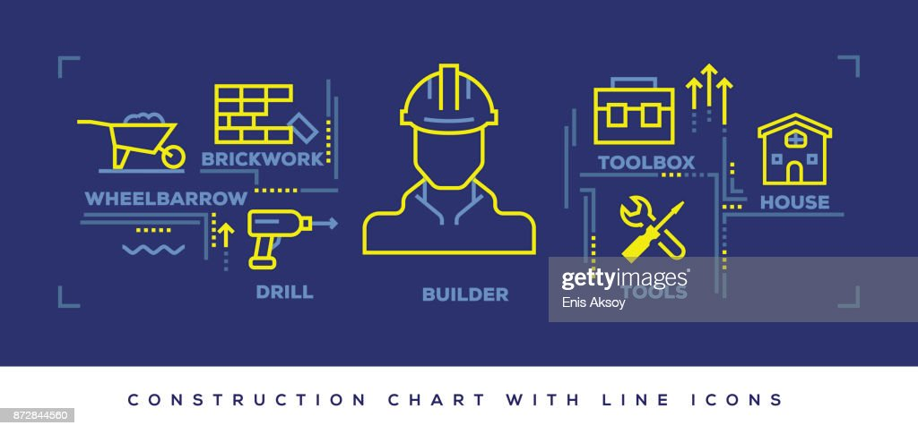 Modern Flat Line Design Concept of Construction