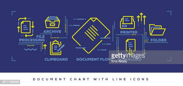 modern flat line design concept of document - legal document stock illustrations, clip art, cartoons, & icons