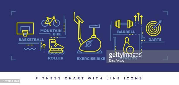 Modern Flat Line Design Concept of Fitness