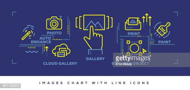 Modern Flat Line Design Concept of Images