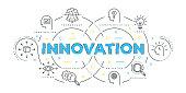Modern Flat Line Design Concept of Innovation