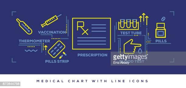 医療の近代的なフラット ライン デザイン コンセプト - 医療研究所点のイラスト素材/クリップアート素材/マンガ素材/アイコン素材