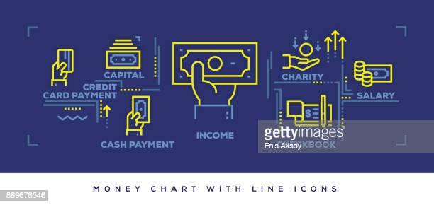 Modern Flat Line Design Concept of Money