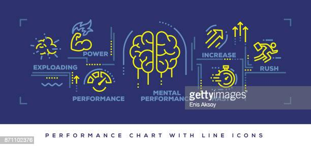 modern flat line design concept of performance - meter instrument of measurement stock illustrations