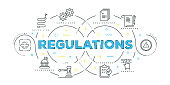Modern Flat Line Design Concept of Regulations