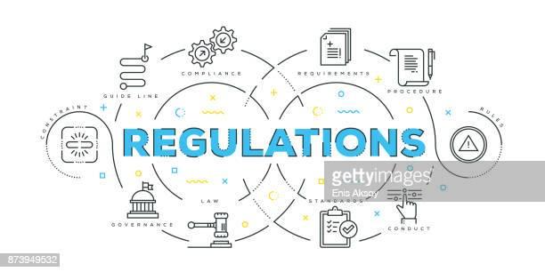 Modern Flat Line Design Concept of Regulations
