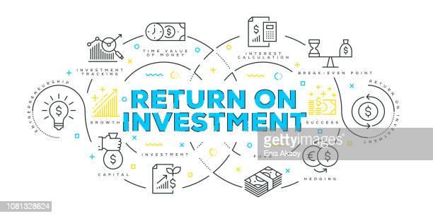 Modern Flat Line Design Concept of Return on Investment