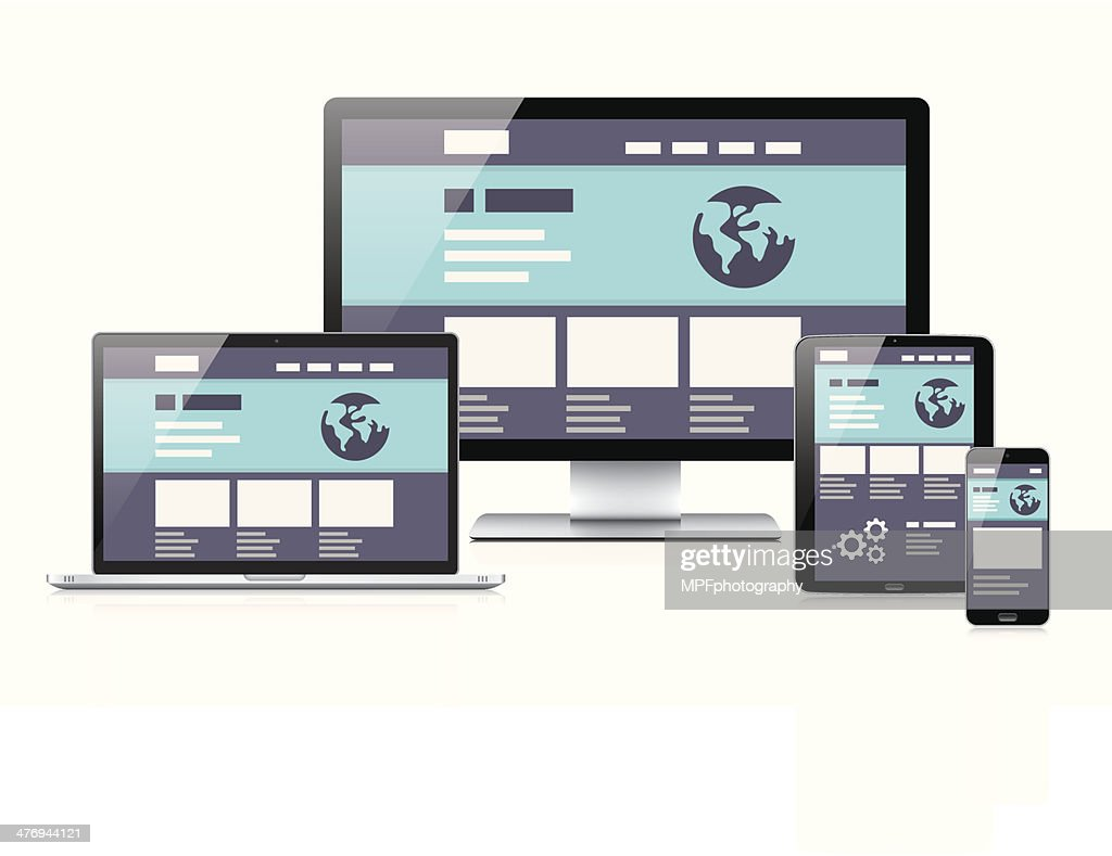 Modern flat & responsive vector illustration of computer coding