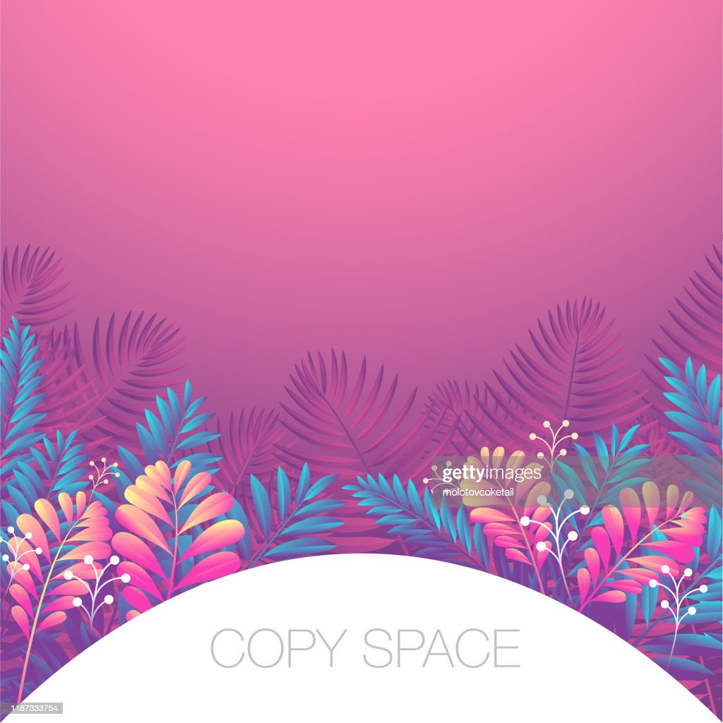 Modern Floral Background With Copy Space High Res Vector Graphic