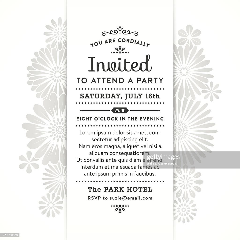 Modern Floral Party Invitation