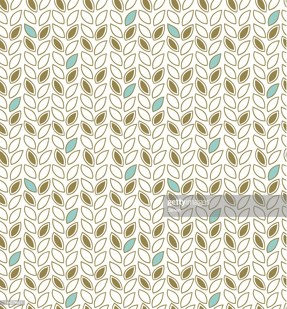 Modern Floral Pattern Seamless Background With Decorative Rows Of