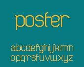 Modern font vector - regular