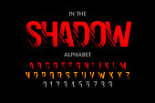 Modern font with shadow effect