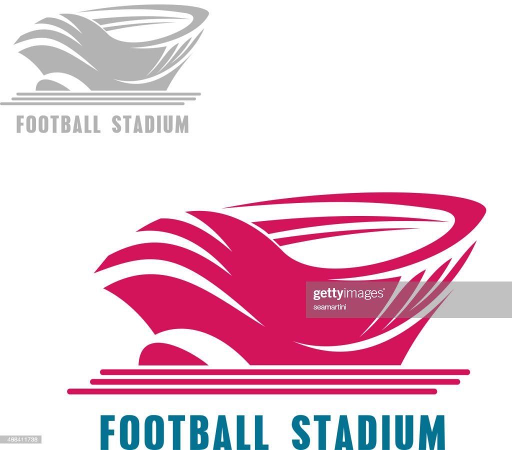 Modern football or soccer stadium icon