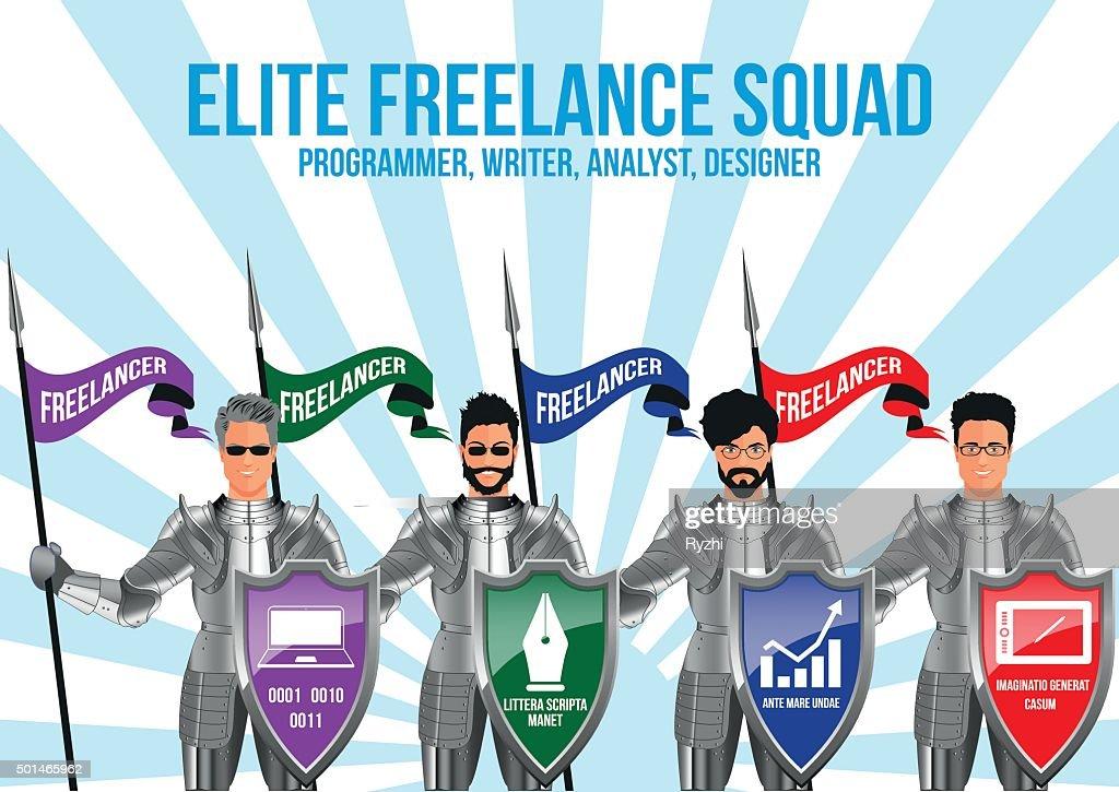 Modern freelance squad design concept