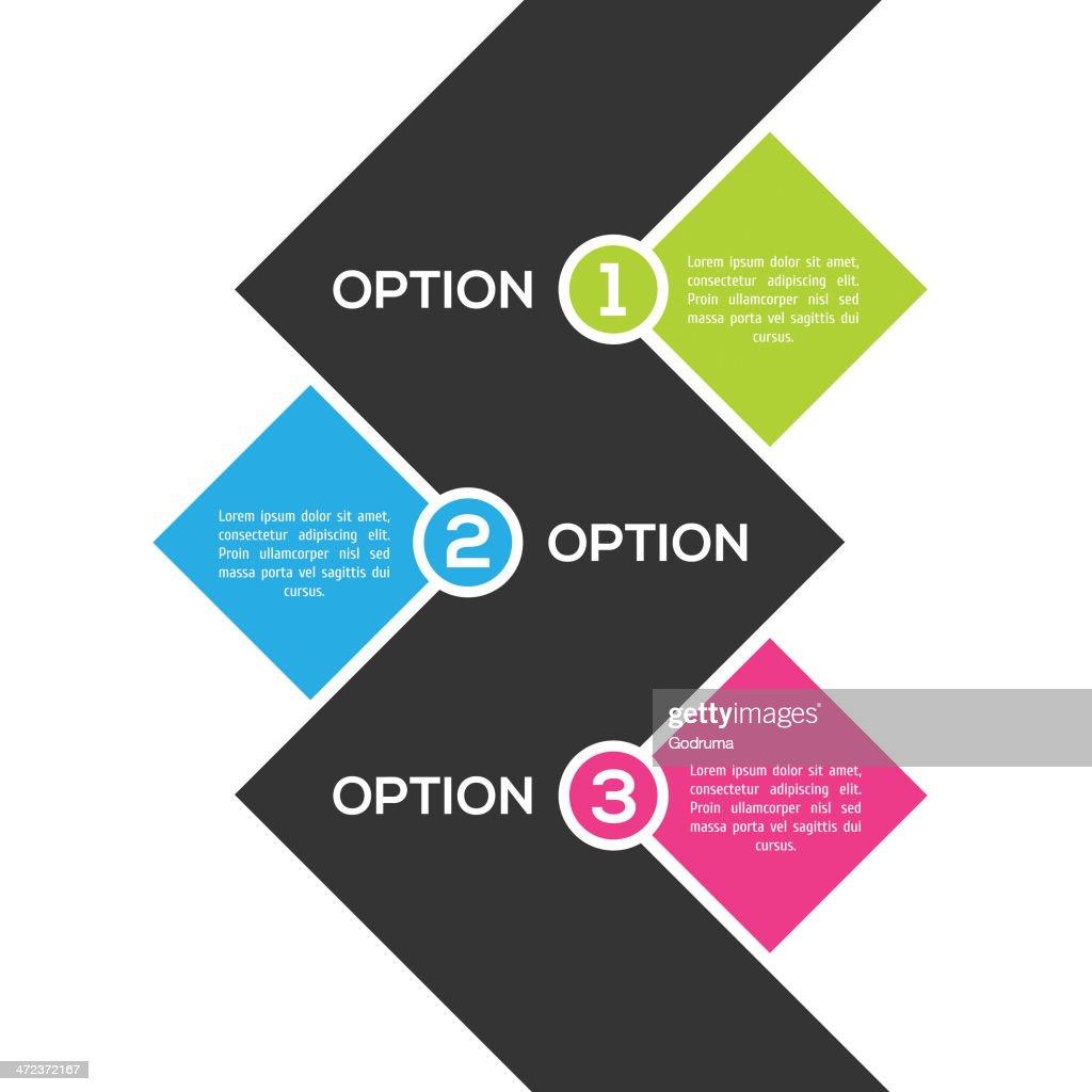 Modern ftat infographic template