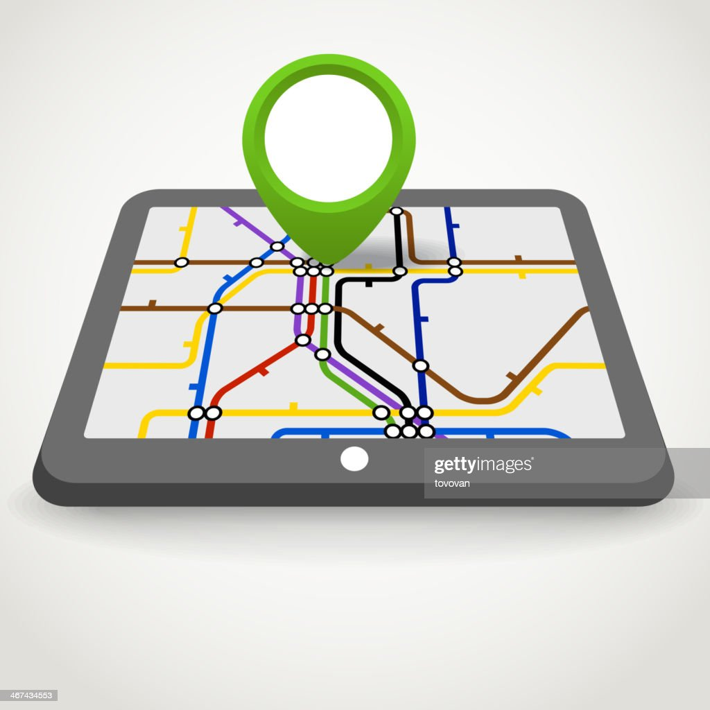 Modern gadget with abstract metro scheme