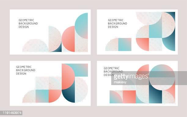 ilustrações, clipart, desenhos animados e ícones de fundos abstratos geométricos modernos - moderno