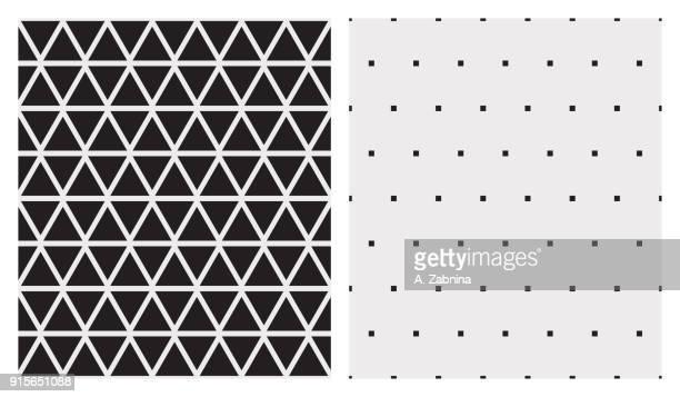 modernen geometrischen tapeten muster-set - dreieck stock-grafiken, -clipart, -cartoons und -symbole