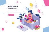 Modern Girl Theme for Website