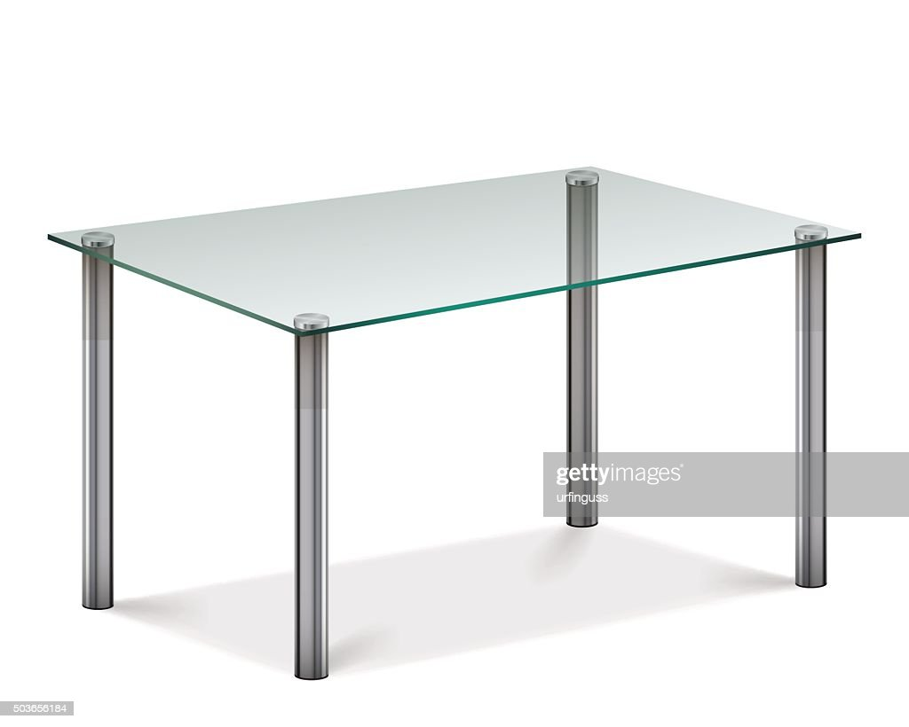 Modern Glass Table Stock Vector Getty Images