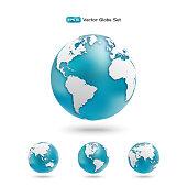 Modern Globe icon set.
