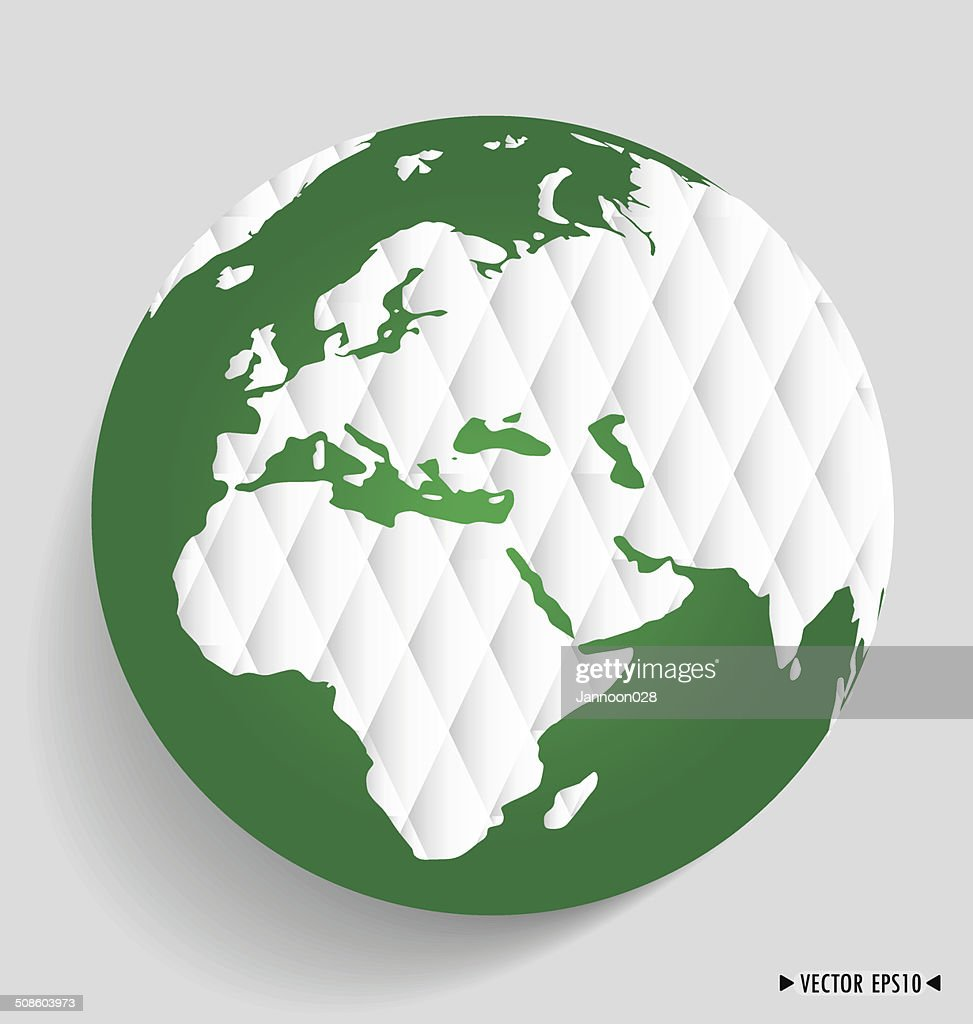 Modern globe. Vector illustration. : Vector Art